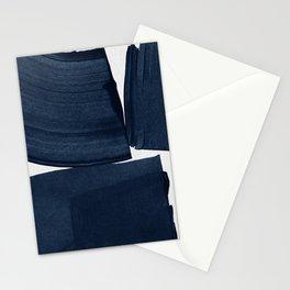 Minimalist Painting Blue I, Navy Decor Stationery Cards