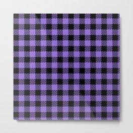 Medium Purple  Bison Plaid Metal Print