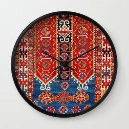 Kazak Southwest Caucasus Carpet Fragment Print Wall Clock