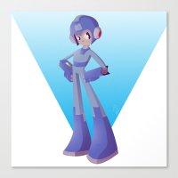mega man Canvas Prints featuring Mega Man by Rootay