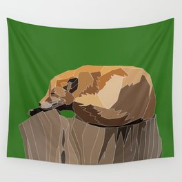 Precarious Snooze Low Poly Wall Tapestry