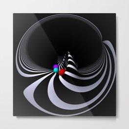 circular images on black -42- Metal Print