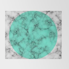 Marble Texture Abstract Throw Blanket