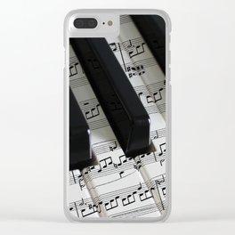 Moonlight Sonata Clear iPhone Case