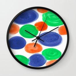 BLUE ORANGE GREEN Wall Clock