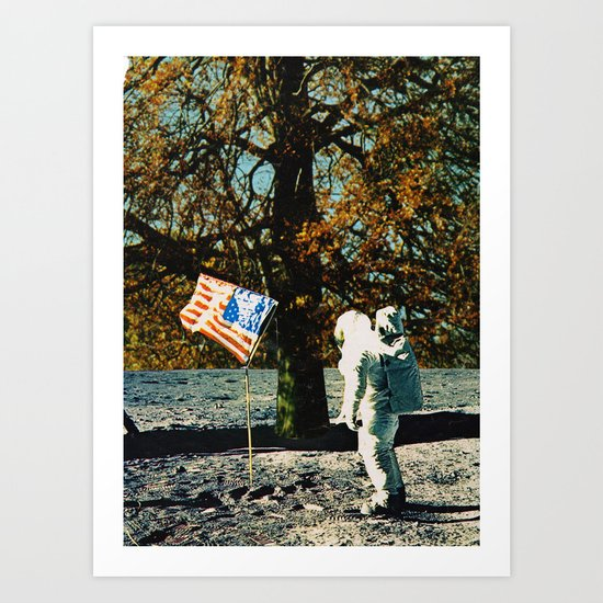 the first man under a tree Art Print