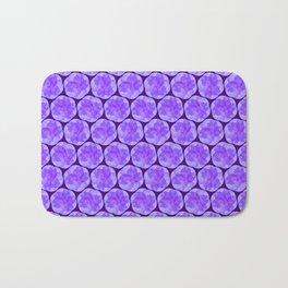 Spiraling Lavender Pattern Bath Mat