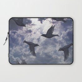 crows in the stormy sky Laptop Sleeve
