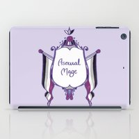 asexual iPad Cases featuring Asexual Mage by armouredescort