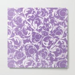 Lilac Swirls Metal Print