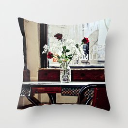 Cafe Break Throw Pillow