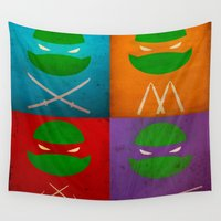tmnt Wall Tapestries featuring TMNT Collection by fabvalle