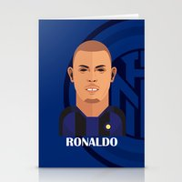 ronaldo Stationery Cards featuring Ronaldo Toon by Sport_Designs