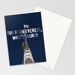 This Is MY Everest, What's Yours? (Raccoon Climbs Skyscraper) Stationery Cards