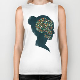 We are made of stardust Biker Tank