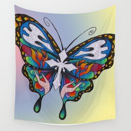 Christianity Themed Butterfly Art Wall Tapestry