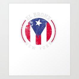 El Bronx design - Puerto Rico boricua bandera Flag Varsity Pullover Hoodie Art Print