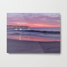 Nags Head Beach Cotton Candy Sunrise Metal Print