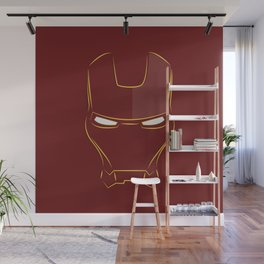 iron man face Wall Mural