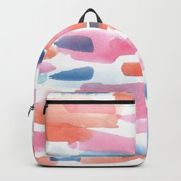 180527 Abstract Watercolour 5 | Watercolor Brush Strokes Backpack