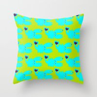crab Throw Pillows featuring crab by V.M.