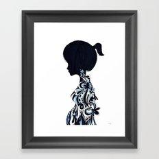 living lady Framed Art Print