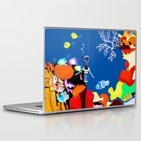 scuba Laptop & iPad Skins featuring Corky the scuba-diver by Dano77