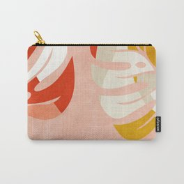 shapes leave minimal abstract art Carry-All Pouch