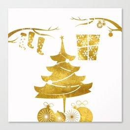 Gold Christmas 03 Canvas Print