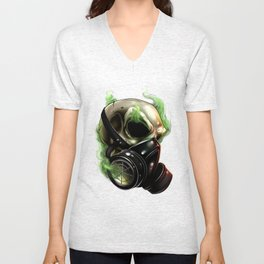 Skull/Gas mask 12 Unisex V-Neck