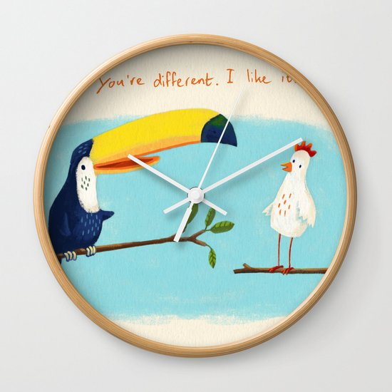 You're different. I like it. Wall Clock