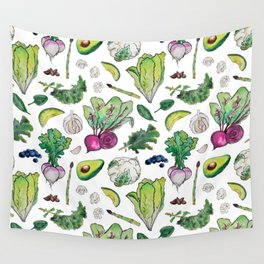 Superfood Pattern Wall Tapestry