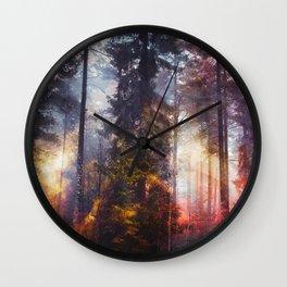 Warm fuzzy feelings Wall Clock