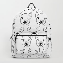 Pig Face Sketch Drawing Lover Animal  Backpack