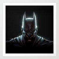bat man Art Prints featuring BAT MAN - bat man by Raisya