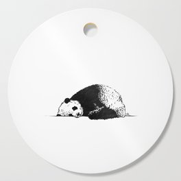Sleepy Panda Cutting Board
