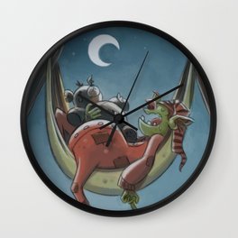Goblins Drool, Fairies Rule! - Nappy Hour Wall Clock