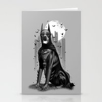doberman Stationery Cards featuring DOBERMAN by ADAMLAWLESS