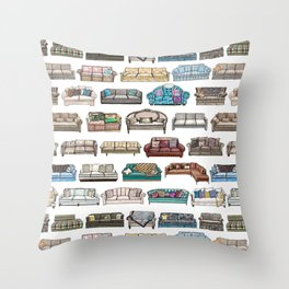 TV Couches Throw Pillow