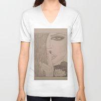 kardashian V-neck T-shirts featuring Khloe Kardashian. by TheArtOfFaithAsylum