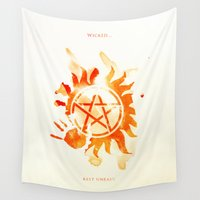 supernatural Wall Tapestries featuring Supernatural by Rose's Creation