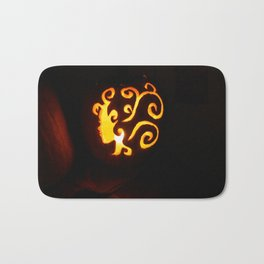 Pretty Lady Carved Pumpkin Bath Mat