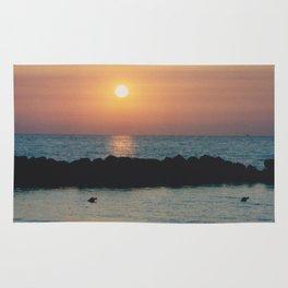 Sunset Ocean Bliss #1 #nature #art #society6 Rug