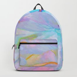 Soft Pastel Painted Petals Abstract Backpack
