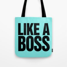 Like a Boss Pastel Baby Blue Tote Bag