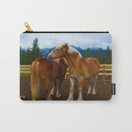 Horses in Jasper National Park, Canada Carry-All Pouch