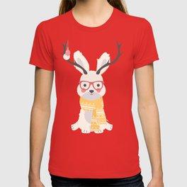 White rabbit Christmas pattern 001 T-shirt