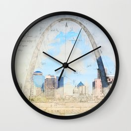 Gateway Arch, Saint Louis USA Wall Clock