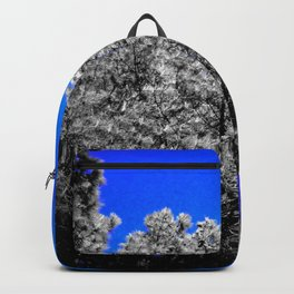 Gray Trees Electric Blue Skies Backpack