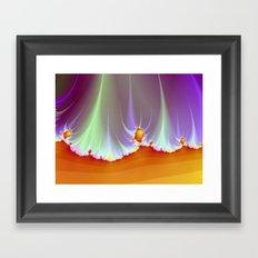 Fractal Landscape Framed Art Print